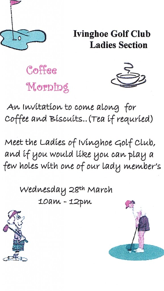 Ladies Section – Invitation to Coffee Morning